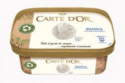 Opakowanie lodów Carte d'Or z kartonu Cupforma Natura Stora Enso