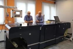 Cyfrowa maszyna Accurio Label 190 firmy Konica Minolta w drukarni Unidruk