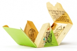 Tektura Metsä Board posłużyła jako materiał do wykonania opakowania sera koziego Zoe & Zazu.