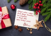 Pełnych radości i pokoju Świąt Bożego Narodzenia oraz pomyślności  w Nowym Roku!
