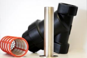 Magnetyczny filtr farbowy z wkładem siatkowym