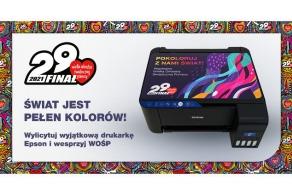 Wylicytuj unikalną drukarkę Epson i wesprzyj Wielką Orkiestrę Świątecznej Pomocy