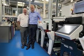 maszyna fleksograficzna Mark Andy P9E w drukarni Berkshire Labels