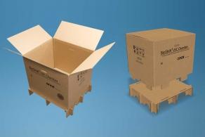 Tekturowa skrzynia BioShift UV-C do transportu lamp UV-C