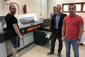 Nowa oklejarka Rigo w drukarni Zapol